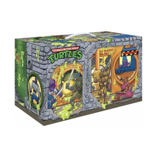 Tmnt Retro Rotocast Sewer Lair Px 6Pc Action Figure Set 7