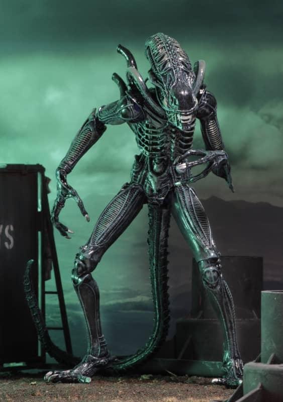 blue alien action figure