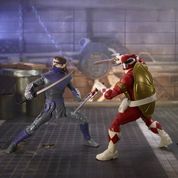 Power Rangers X Teenage Mutant Ninja Turtles Lightning Collection Morphed Raphael and Foot Soldier Tommy 1